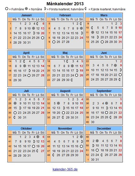 Лунный календарь своими руками